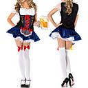 alemán cerveza chica de tinta azul y traje de las mujeres negras