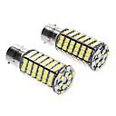 1156/BA15S 7W 6000-6500K 480LM 120x3528SMD Bombilla LED de luz blanca (DC 12V, 1 par)