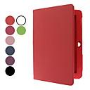 10.1 pulgadas de color sólido del patrón del lichí de caso completo de cuerpo con la aguja y el protector de la pantalla (colores surtidos)