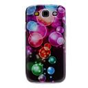 Burbuja Caso duro del patrón colorido para Samsung Galaxy S3 I9300