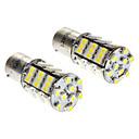 1156/BA15S 3W 6000-6500K 216LM 54x3528SMD Bombilla LED de luz blanca (DC 12V, 1 par)