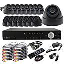 Ultra DIY 16CH D1 Real Time H.264 CCTV DVR Kit (16pcs 420TVL Night Vision CMOS Dome Cameras)
