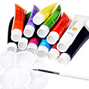 12-Color Acrílico Nail Art Kits Pigmento Pintura