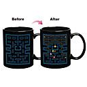 Pac-Man Game Color cambiante de la taza de cerámica