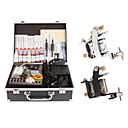 2 Machine Tattoo Kit Machines Guns Equipment Ink Gun Set