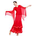 Ballroom viscosa dancewear Con Tulle Danza Moderna Top para damas (más colores)