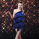 Bailarín Ducha Tassel Paillette del Uno-hombro del vestido del traje de la Mujer Latina