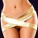 Sizzling cruzada del oro metálico Panty
