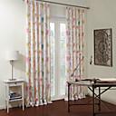 apagón forrada colorido cortina paraíso de las aves (dos paneles)