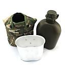 1L militar botella de agua w / Canteen  PouchHUI-36107