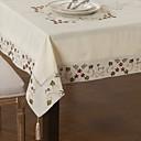 Image of bacche foglie tovaglia misto lino cotone quadrato