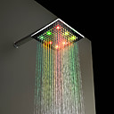 Cambio de 7 colores LED Shower Head Chrome grifo de 8 pulgadas