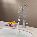 cambio de color llevado grifo del fregadero cuarto de baño - cromado