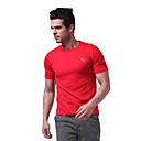 la manga corta de los hombres langzuyoudang deportivos camiseta de secado rápido transpirabilidad negro, blanco, rojo