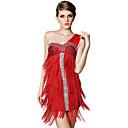 Bailarín Ducha Tassel Night Club de un hombro traje atractivo del vestido de las mujeres