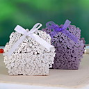 Butterfly Flower Laser-cut Favor Box (Set of 12)