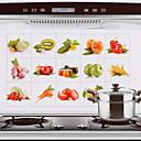 75x45cm Frutas y Verduras patrón de aceite a prueba de a prueba de agua caliente a prueba de Cocina etiqueta de la pared