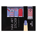28PCS Nail Art Stickers Pure Color Glitter Powder Series (camisa rayada del marinero  Tuzki)
