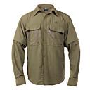 camisa Tactel desmontable verde de los hombres de secado rápido explorador oscuro, de color caqui, gris claro, gris oscuro
