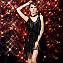Bailarín Ducha Tassel Paillette sexy traje de corte bajo Slip vestido latino de la mujer