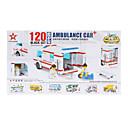 Del niño 200pcs NO.82106 Ambulancia plástico bloques de construcción de juguete inteligente