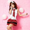 Naughty estudiante mangas de camisa roja patrón de prueba de la falda School Girl Uniform