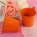 Orange Mini Candy Favor Box Pail Bucket Wedding Party Favor-Set of 12
