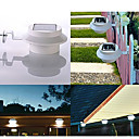3 Led Solar Powered Fence Gutter Luz al aire libre Jardín Patio Aplique Pathway (cis-57155)