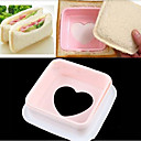 Heart Hearted Shape Sandwich Bread Toast Maker Mold Mould Cutter DIY Tool