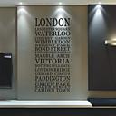 Ciudad London Palabras pegatinas de pared
