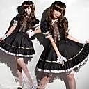 Cute Girl Negro Spandex uniforme de mucama