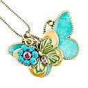 adornos de mariposas de la vendimia de la cadena suéter n483 europeo y americano de la mujer