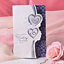 boda del diseño del corazón doble invitación-conjunto de 50/20