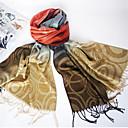 Qing Yu Cambiar puntos redondos de color de la borla Folk Classic Bufanda de moda