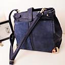 De POLIS Mujeres Azul marino 2013 del modelo nuevo de Corea del contraste del color del vintage Crossbody Bolsa de hombro