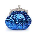 Azul resplandor único bolso de embrague de Colormoon Mujeres