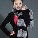chaleco de piel con / chaleco ocasional partido de la manga larga de piel de conejo y sin cuello de piel de zorro