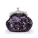 Brillante púrpura bolsa de embrague único de Colormoon Mujeres