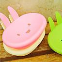 Conejo en forma de caja de jabón plástico portátil (2 PCS color al azar)