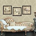 Arquitectura Montage de fotos de estilo antiguo Arquitectura Framed Canvas Juego de 3