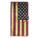 Bandera americana patrón de caso completo de cuerpo con ranura para tarjeta para Huawei Ascend P6