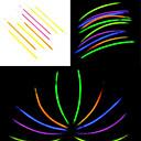 100PCS noctilucous Glow Stick mezclado al azar Puntales color concierto