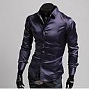 Silk camisa ocasional flaca púrpura Hombres QN