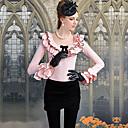 De DABUWAWA Moda Mujer delgada Ruffle arco Camiseta