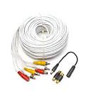 120 pies pies (40m) de audio, vídeo y alimentación Cable de extensión RCA