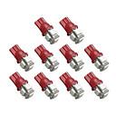2825 T10 5 SMD LED rojo Alquiler de luces Bombilla (10 PCS)