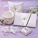 Colección de la boda clásica en marfil satinado (5 Piezas)