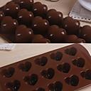 15 cuadrículas del corazón del amor del silicón del patrón Cake Mould