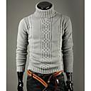 DAYD irregular de la manera Cuello alto de solapa suéter (gris)