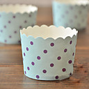 Purple Dot Blue Cupcake Wrapper-Set of 50